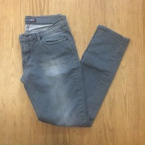 Levi's Gray Distressed Skinny Jeans